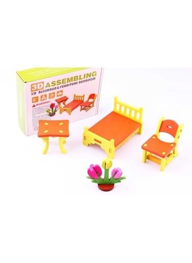 3D Ahşap Maket Yatak Odası Takımı-Learning Toys